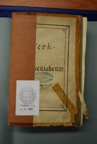 The cover of the manuscript